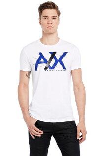 美國百分百【Armani Exchange】T恤 AX 短袖 上衣 logo T-shirt 白色 L XL E822