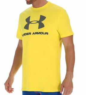 美國百分百【Under Armour】運動時尚 UA T恤 Logo T-shirt 黃色 S M L號 E873