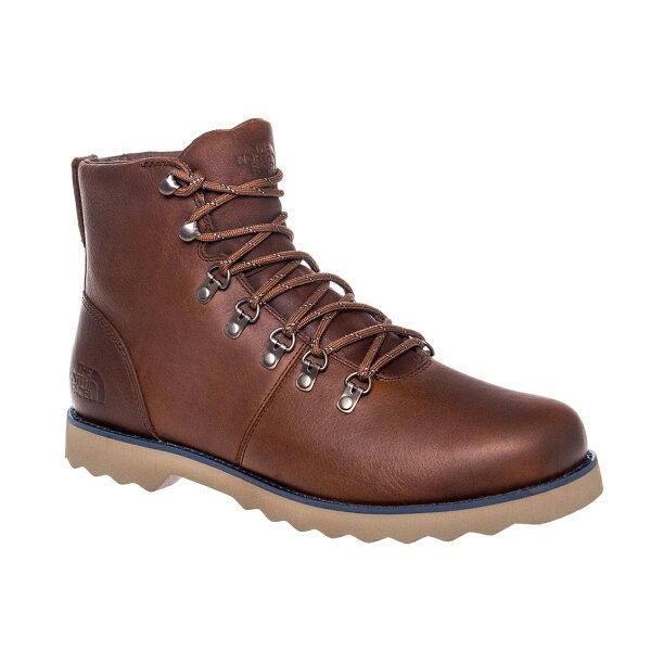 美國百分百【The North Face】登山靴 皮靴 工作靴 靴子 中筒 TNF 防水 男 10 10.5號 E898