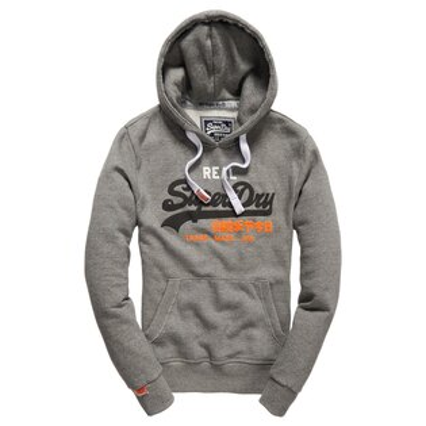 美國百分百【全新真品】Superdry 極度乾燥 帽T 連帽 外套 防風 夾克 刷毛 復古 S號 灰色 E930