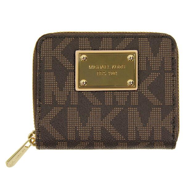 美國百分百【全新真品】Michael Kors 皮夾 MK 手拿包 隨身包 零錢包 錢包 短夾 皮質 咖啡 C686