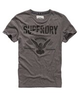 Superdry極度乾燥商品推薦美國百分百【Superdry】極度乾燥 T恤 上衣 T-shirt 短袖 短T 老鷹 輪胎 圓領 深灰 復古 XL XXL號 F228