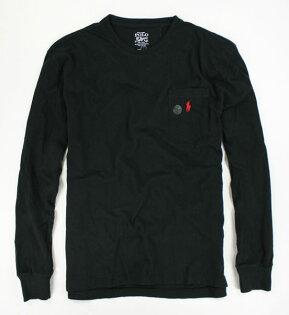 美國百分百【全新真品】Ralph Lauren RL Polo 口袋 長袖 T恤 T-shirt 素面 黑色 薄T 男 S M號