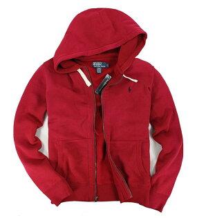 美國百分百【全新真品】Ralph Lauren Polo RL 男 連帽 拉鍊 外套 厚刷毛 S M L 紅色 B034