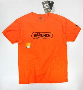 美國百分百【全新真品】Adidas 愛迪達 男生 T恤 T-shirt 短袖 上衣 橘色 M號