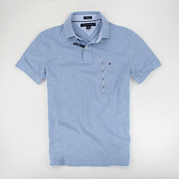 美國百分百【全新真品】Tommy Hilfiger th 懷舊感 特色 復古藍 短袖 網眼Polo衫 XS S M號 合身