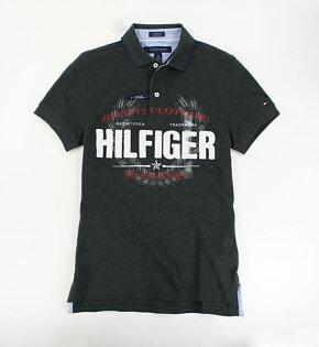 美國百分百【全新真品】Tommy Hilfiger 男 條紋領 紳士風 圖案 網眼 短袖 polo衫 深灰 XS號 TH