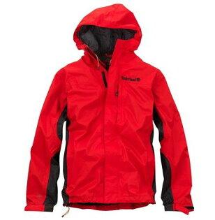 美國百分百【全新真品】Timberland 男 紅色 夾克 連帽 外套 運動 立領 防風 防水 貨付 S 號