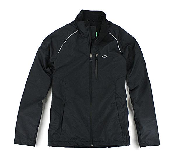 美國百分百【全新真品】Oakley 男 防寒 防風 防水 風衣 外套 夾克 立領 黑色 S號 門市現貨