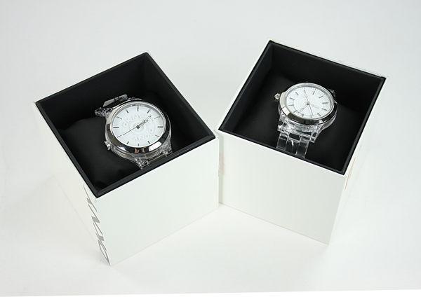 美國百分百【全新真品】DKNY 手錶 手表 情侶 對錶 透明錶帶 日本機芯 板橋門市 可自取