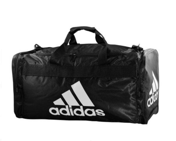 美國百分百【全新真品】Adidas 愛迪達 黑 旅行袋 運動包 行李 大容量 雙口袋 男 女 超取