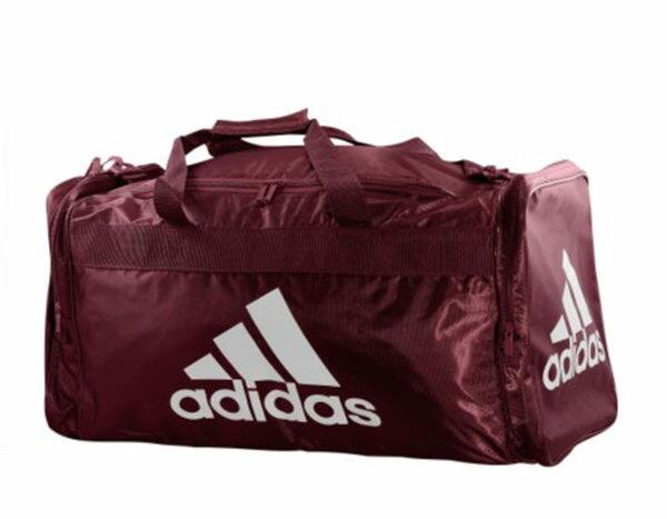美國百分百【全新真品】Adidas 愛迪達 酒紅色 大容量 旅行袋 運動包 行李包 超取 板橋 面交
