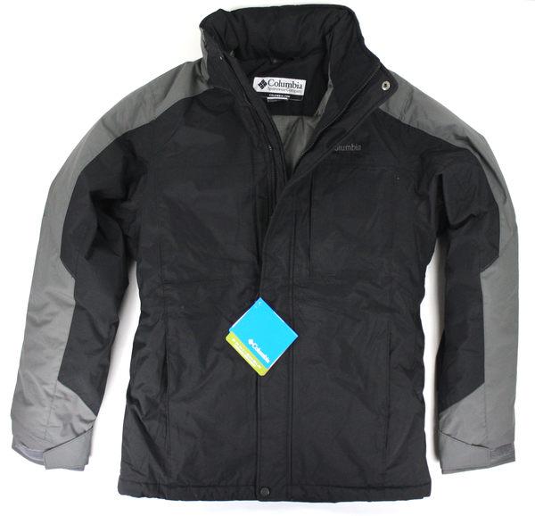美國百分百【全新真品】Columbia 哥倫比亞 男款 防風外套 舖棉夾克 防水 保暖 黑色 面交