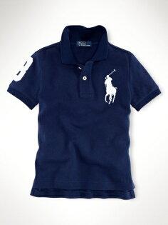 美國百分百【全新真品】Ralph Lauren RL 童裝 小孩 深藍 大馬 短袖 Polo衫 幼童 親子裝 2~5歲