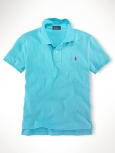 美國百分百【全新真品】Ralph Lauren 小朋友 童裝 男童 女童 短polo衫 水藍色 RL 親子裝 3-5歲