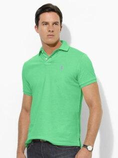美國百分百【全新真品】Ralph Lauren 網眼 素面 Polo衫 男生 短袖 上衣 美國 純棉 湖水綠 RL