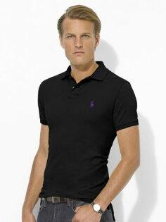 美國百分百【全新真品】Ralph Lauren 男生 RL 短袖 POLO衫 素面 網眼 上衣 黑色 代購 超取