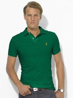 美國百分百【全新真品】Ralph Lauren Polo衫 網眼 男衣 專櫃款 純棉 短袖 小馬 綠 RL 5