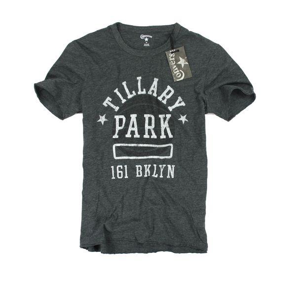 美國百分百【全新真品】converse 特色材質 籃球 PARK 古著T 棉T 短袖 鐵灰 T恤 美國寄件