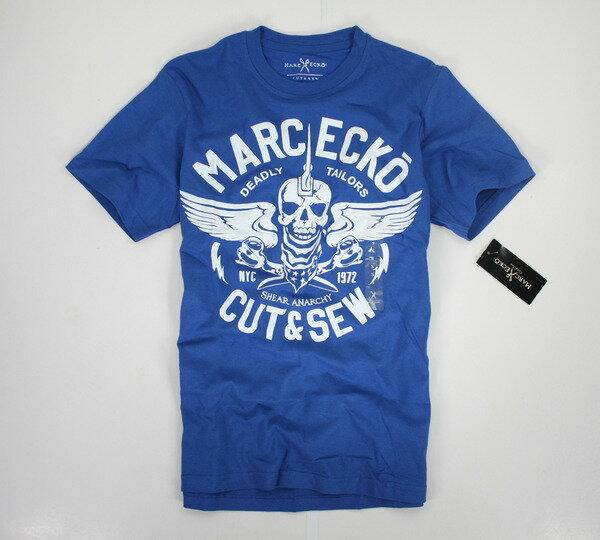 美國百分百【全新真品】marc ecko 美國 潮流 骷顱頭 cut&sew 設計T 男 短袖 T恤 T-shirt 空運回台