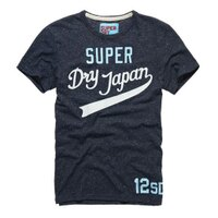 Superdry極度乾燥商品推薦美國百分百【Superdry】極度乾燥 T恤 上衣 T-shirt 短袖 圓領 短T 雪花 藏藍 L XL號 E693