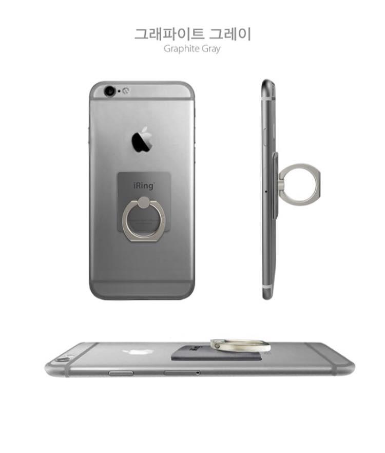 韓國iring側立支架手機指環 3
