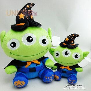 【UNIPRO】迪士尼 三眼怪 Alien 萬聖節 巫婆 魔法師 絨毛玩偶 娃娃 南瓜 Halloween裝飾 正版