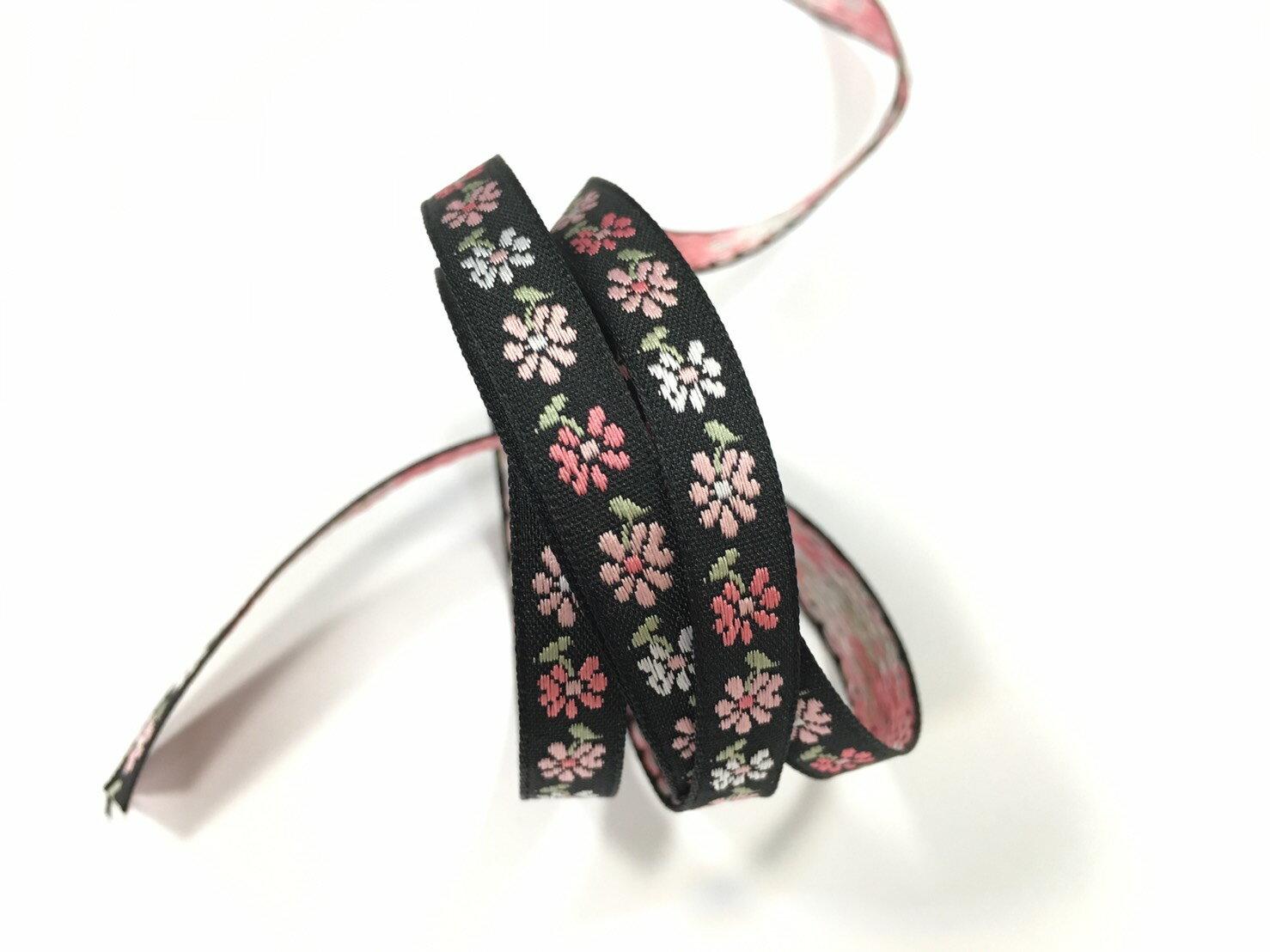 五瓣緹花緞帶 9mm 3碼 (7色) 2