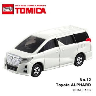 日貨 TOMICA No.12 Toyota ALPHARD 豐田 真車系列 汽車模型 多美小汽車【N201325】