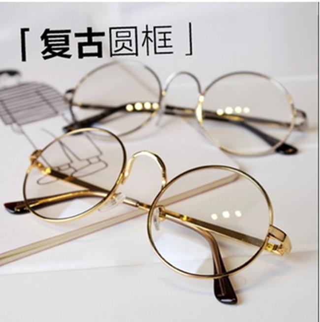 50^%OFF~J011441Gls~ 復古大框圓形眼鏡框2833 金屬 眼鏡框架太子鏡近