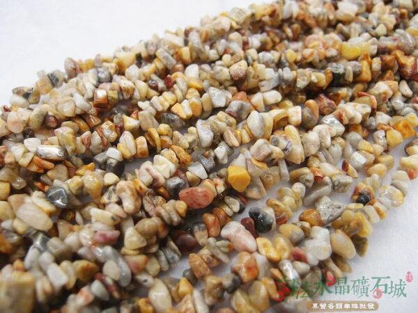 白法水晶礦石城 天然-岫玉4mm至10mm (有穿孔) 礦質 碎石 串珠/條珠 首飾材料(一件不留出清五折區)