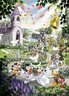 【進口拼圖】迪士尼 DISNEY-米奇米妮婚禮教堂 1000片 D-1000-319