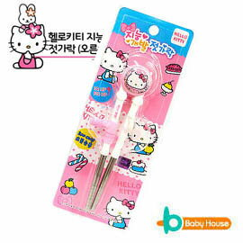 [ Baby House ]Hello Kitty Stainless Steel 不鏽鋼學習筷【愛兒房生活館】