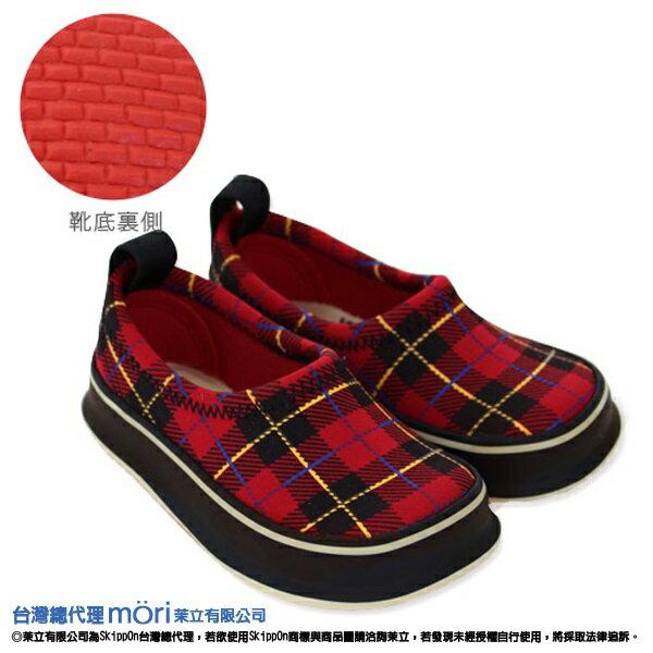 日本熱賣SkippOn幼兒戶外機能鞋-紅格紋