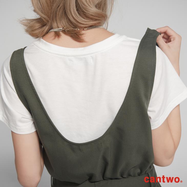 cantwo挖背連身裙+短T兩件式組合(共三色) 4