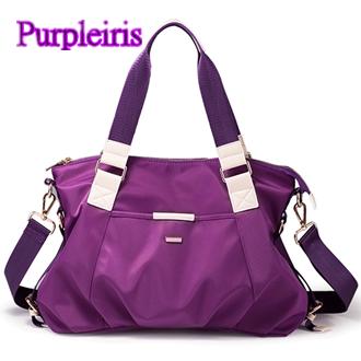 【鳶尾紫】紫色包包 紫色女包 輕便 後背包  最新款女包 尼龍女包女士手提包單肩包斜跨包牛筋布包潮流輕便防水防盜耐刮黑色