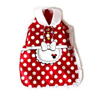 [Puppy Castle 帕彼創意寵物] Pet Paradise 日本 Disney Mickey Mouse 米妮洋裝造型雨衣 SS