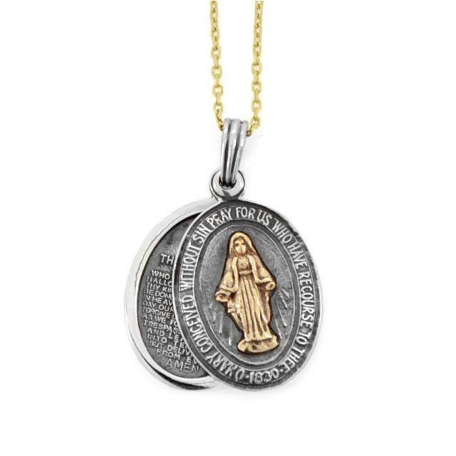 【海外訂購】【amp japan】聖母瑪麗亞純銀項鍊(AMP-13AH-360  0709220000) 0