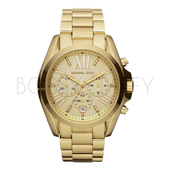 MK5605 MICHAEL KORS 義式羅馬時尚鍍金腕錶 大氣圓盤三眼指針日曆女錶
