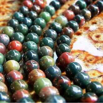 [鷄血石]天然寶石 6mm圓形珠 diy飾品散珠 - 限時優惠好康折扣
