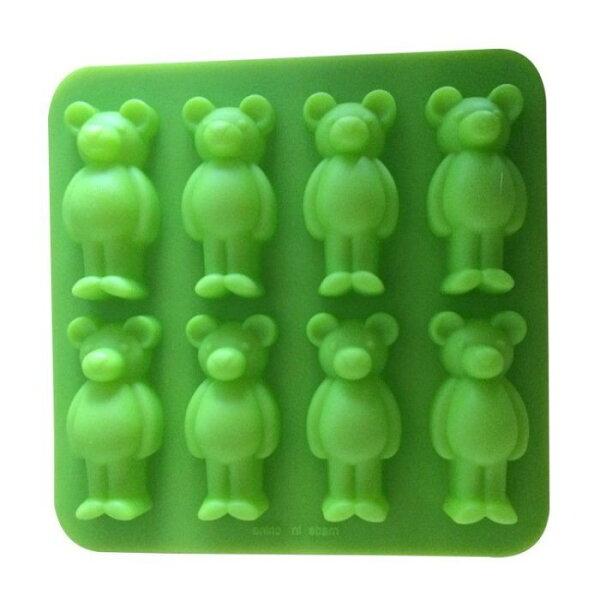 心動小羊^^手工皂模具韓國矽膠模具,婚禮小物超立體8連小熊手工皂模、巧克力模、3D立體蛋糕模
