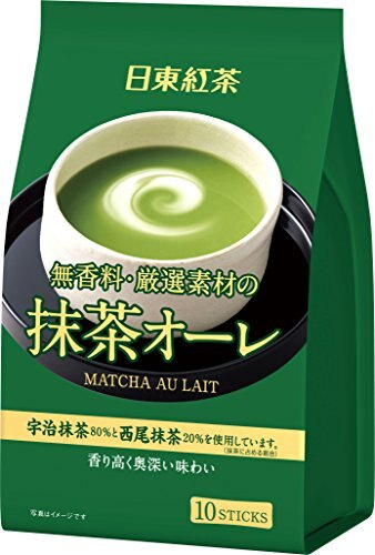 有樂町進口食品 日東 抹茶歐蕾 10入 新包裝上市 4902831507634 0