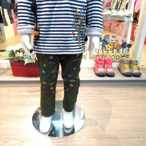 熱汽球潮流童裝~(限時優惠)台灣品牌尼奇男童童趣刷毛牛仔褲  綠色