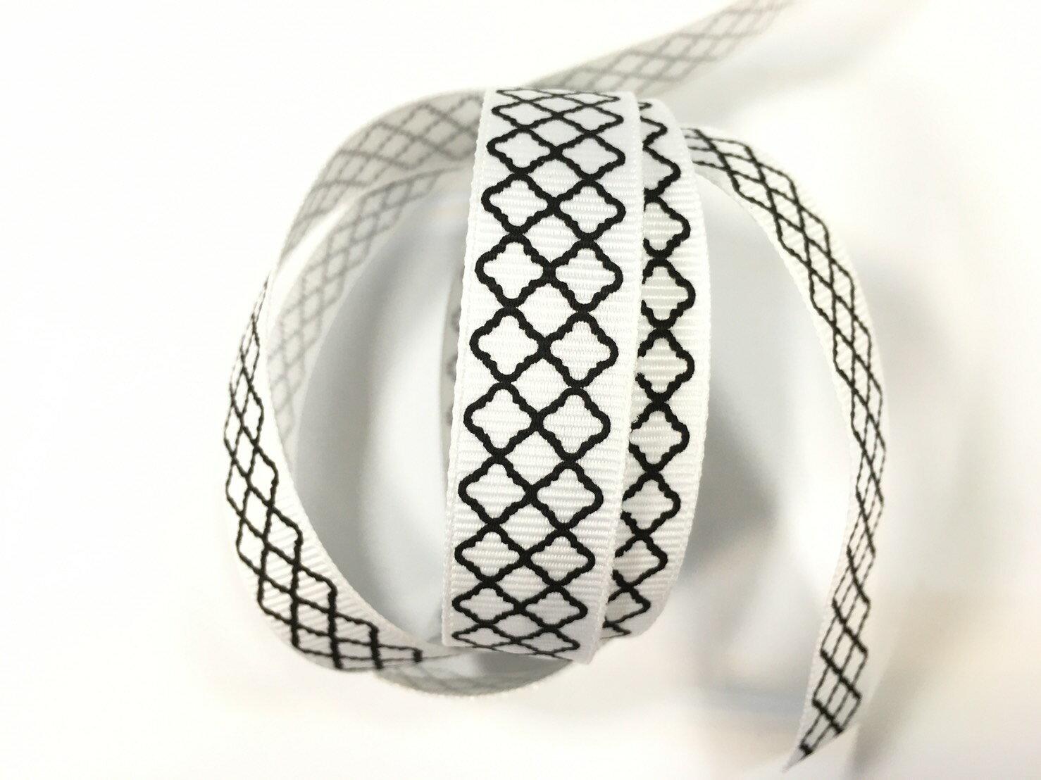 羅紋緞帶-網格 15mm 3碼裝 (5色) 6