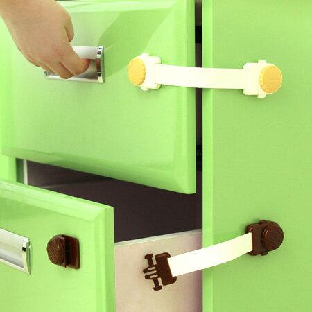 兒童安全 餅乾造型 櫥櫃防夾安全鎖(加長款) L型 安全扣 固定鎖 抽屜鎖 冰箱鎖【N201037】