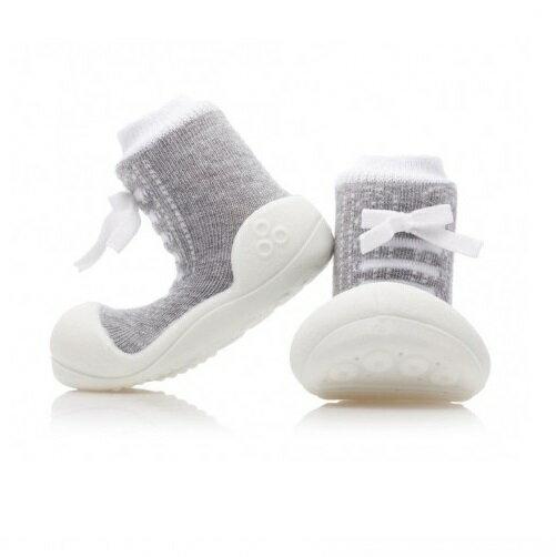 【本月特價$599】韓國【Attipas】快樂腳襪型學步鞋-律動灰 - 限時優惠好康折扣
