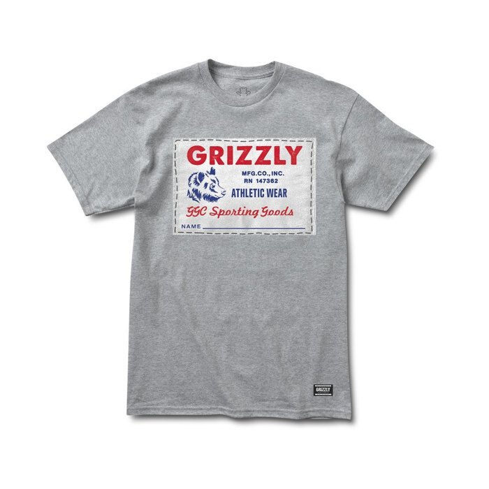 BEETLE GRIZZLY GRIPTAPE ARCHIVE LABEL 灰熊 小熊 灰白 LOGO 短T TEE 0