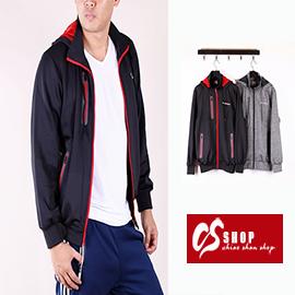 CS衣舖 機能布料 防水拉鍊 連帽立領 可拆帽 慢跑 健身 運動外套 薄外套 001 0