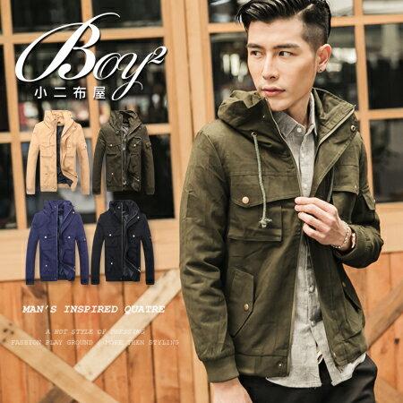 ☆BOY-2☆【PPK88019】保暖立領多口袋軍裝外套 0