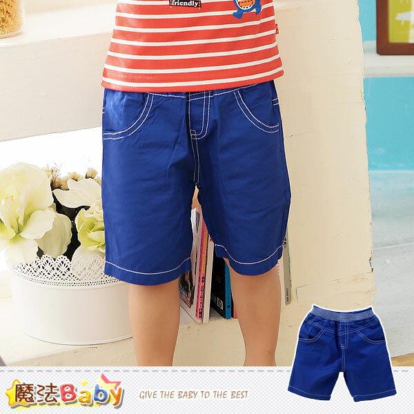 男童短褲~牛仔藍短褲~男童裝~魔法BABY~k41187